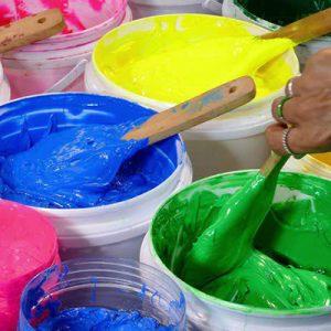 رنگ خمیری سازگار با رزین است